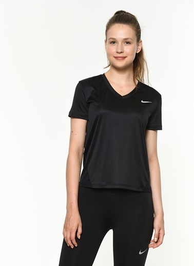 Nike Nike Miler Top Kadın Koşu T-Shirt Siyah